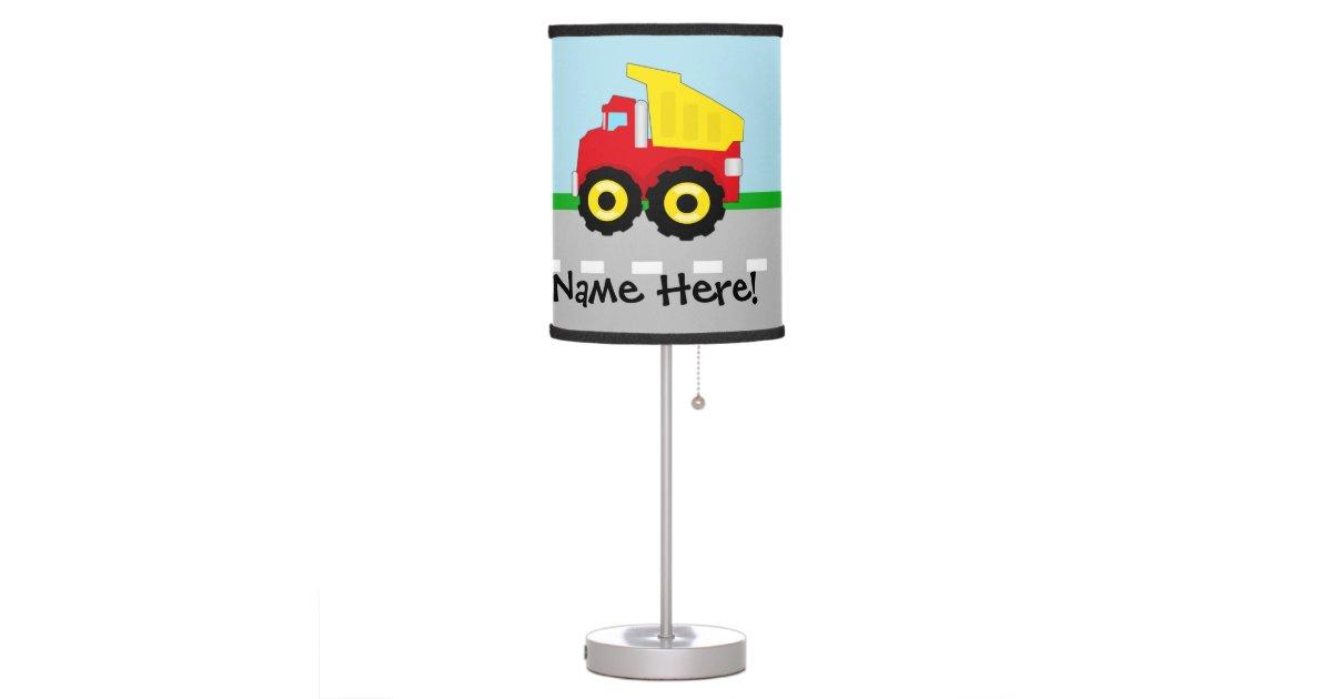 Construction Lamps For Boys : Kids boys construction dumptruck table lamp zazzle