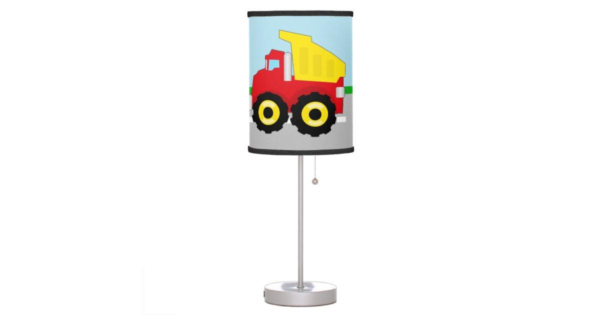 Boy Truck Lamp : Kids boys construction dumptruck table lamp zazzle