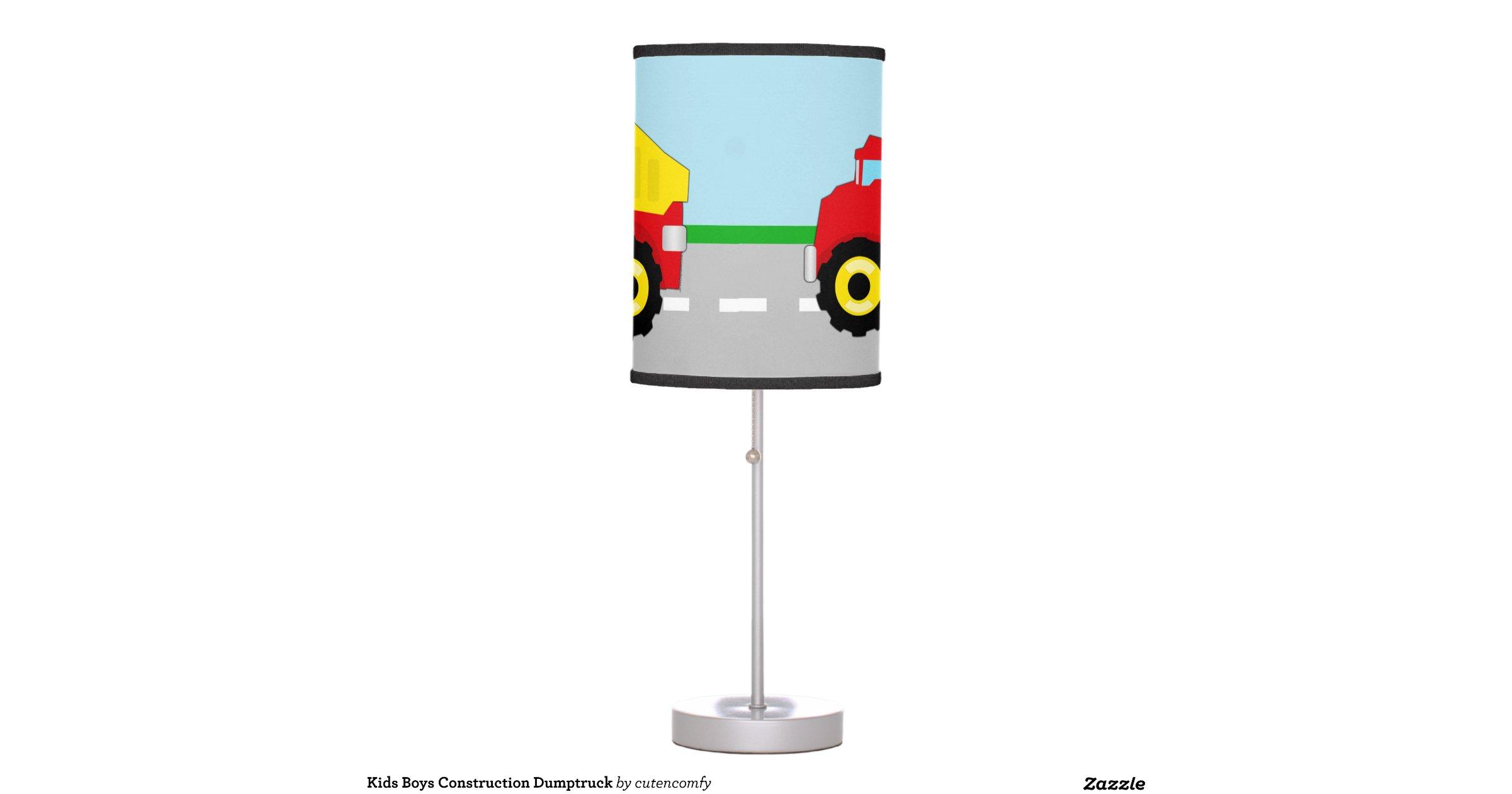 Construction Lamps For Boys : Kids boys construction dumptruck table lamps