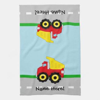 Kids Boys Construction Dumptruck Towel