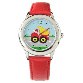 Kids Boys Construction Dumptruck Wrist Watches