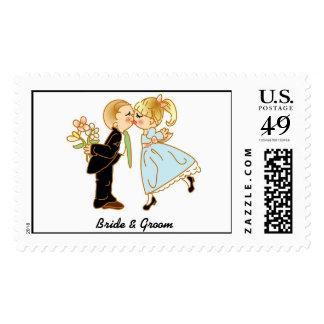 Kids Bride & Groom Postage