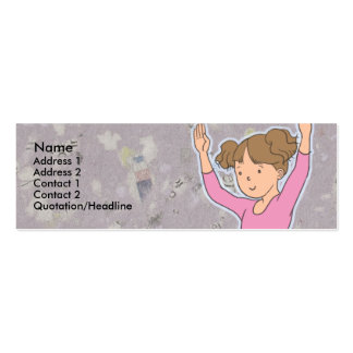 Kids Brunette Ballerina Skinny Profile Cards Business Card Template