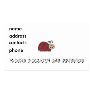 kids bug profile card ... Double-Sided standard business cards (Pack of 100)