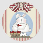 Kids Bunny Rabbit T Shirts and Gifts Round Stickers