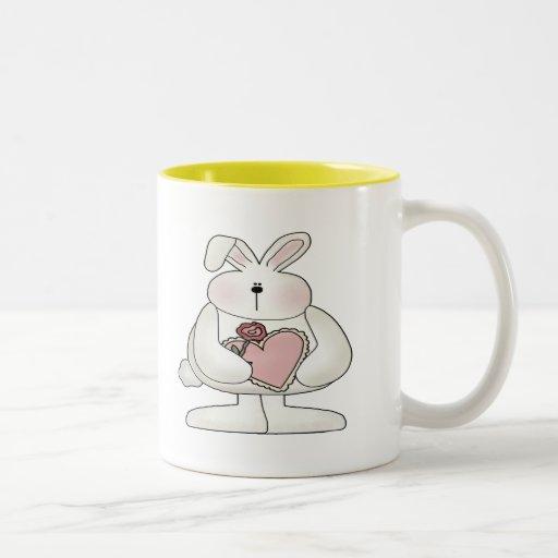 Kids Bunny Rabbit T Shirts and Gifts Two-Tone Coffee Mug