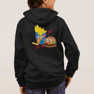 Kid's Burgers & Fries in Love Zip Up Sweatshirt