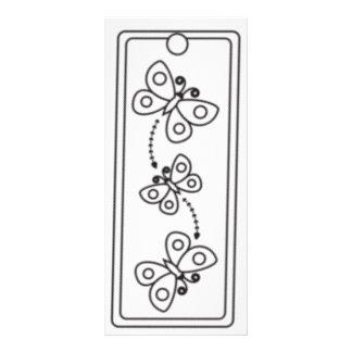 Kids Butterflies Bookmarks Rack Card