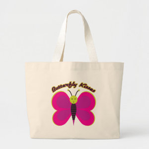Kids Butterfly Kisses Tote Bag bag