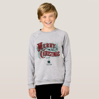 Kids' CaféBoston Xmas Raglan Sweatshirt