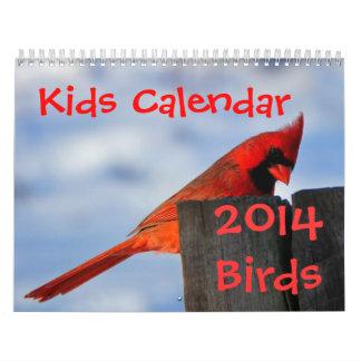 Kids Calendar - 2014 - Birds
