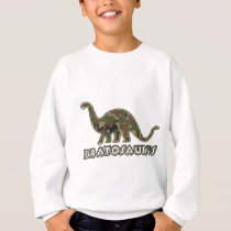 Kids camo Dinosaur Brat Bratosaurus Sweatshirt