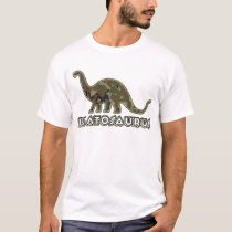 Kids camo Dinosaur Brat Bratosaurus T-Shirt