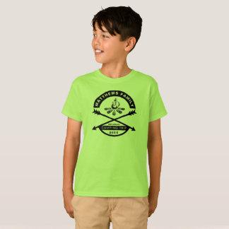 Kids' Camping Trip Reunion Shirt | Black Design