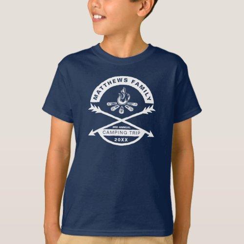 Kids Camping Trip Reunion Shirt  White Design