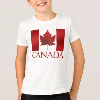 Kid's Canada Flag Ringer Maple Leaf Kid's T-Shirt