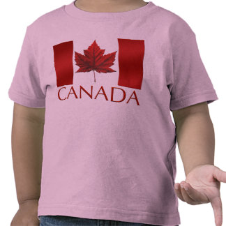 Kid's Canada Flag Ringer Personalize Toddler Shirt Shirt