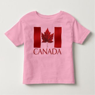 Kid's Canada Flag Ringer Personalize Toddler Shirt