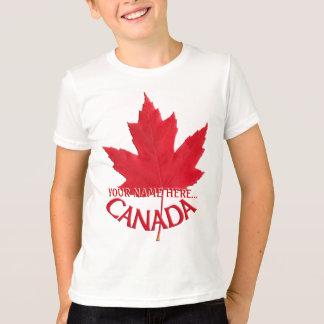Kid's Canada T-shirt Custom Name Maple Leaf Shirt