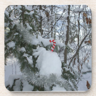Kid's Candy Cane Decoration Outside Drink Coaster