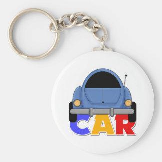 Kids Car Gift Basic Round Button Keychain