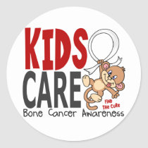 Kids Care 1 Bone Cancer Classic Round Sticker