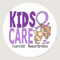 Kids Care 1 Cancer Classic Round Sticker