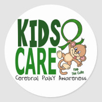 Kids Care 1 Cerebral Palsy Classic Round Sticker