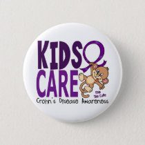 Kids Care 1 Crohns Disease Pinback Button