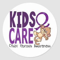 Kids Care 1 Cystic Fibrosis Classic Round Sticker