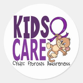 Kids Care 1 Cystic Fibrosis Classic Round Sticker