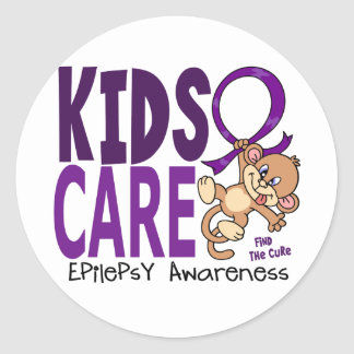 Kids Care 1 Epilepsy Classic Round Sticker
