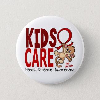 Kids Care 1 Heart Disease Button