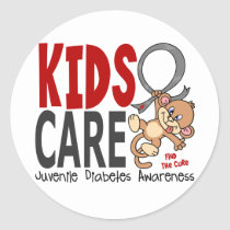 Kids Care 1 Juvenile Diabetes Classic Round Sticker