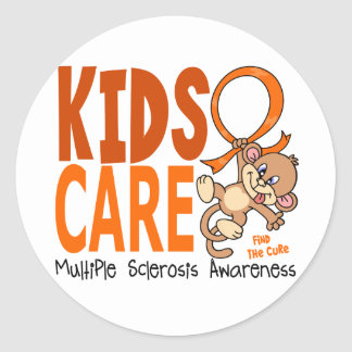 Kids Care 1 Multiple Sclerosis MS Classic Round Sticker
