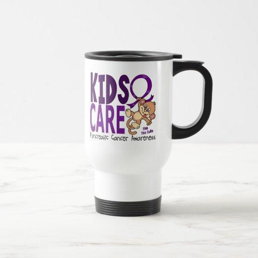 Kids Care 1 Pancreatic  Cancer 15 Oz Stainless Steel Travel Mug