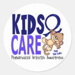 Kids Care 1 Rheumatoid Arthritis Round Sticker