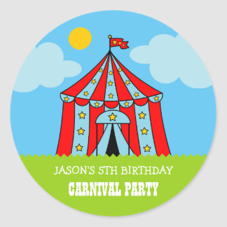 Kids carnaval circus Birthday party favor stickers