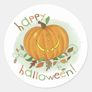 Kids Cartoon Pumpkin Sticker