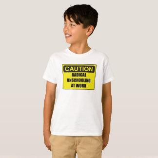 Kid's Caution Radical Unschooling Unisex Tee