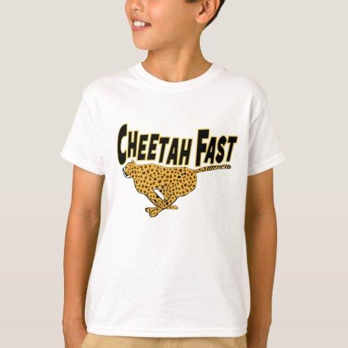 Kids Cheetah Fast Running Wild Animal T_Shirt