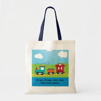 Kids Choo Choo Train Caboose Budget Tote Bag