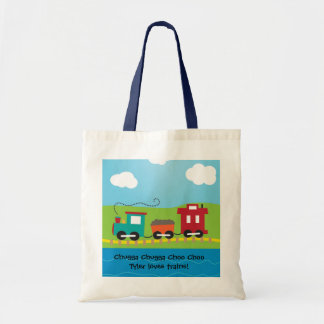 Kids Choo Choo Train Caboose Tote Bag