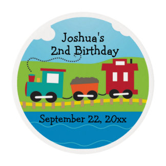 Kids Choo Choo Train Theme Birthday Edible Frosting Rounds