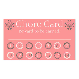 Kids chore punch card