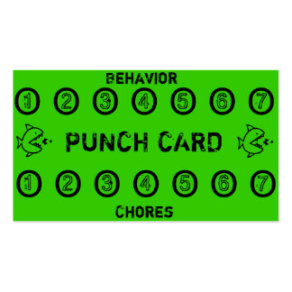 Kids Chore Punch Cards