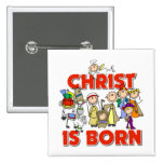 Kids Christian Christmas Gift 2 Inch Square Button