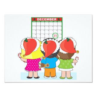 Kids Christmas Calendar 4.25x5.5 Paper Invitation Card