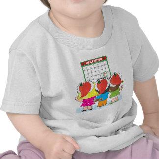 Kids Christmas Calendar Tshirts