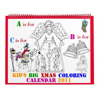 kids christmas coloring calendar 2011